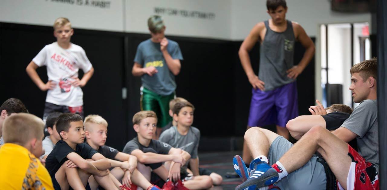 max askren coaching mequon wrestling